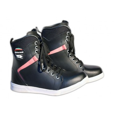 Motorcycle Leather Boots for Women (Spyke Milan Lady)
