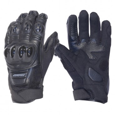 Motorcycle Leather Gloves for Men (AGV Sport Onyx)