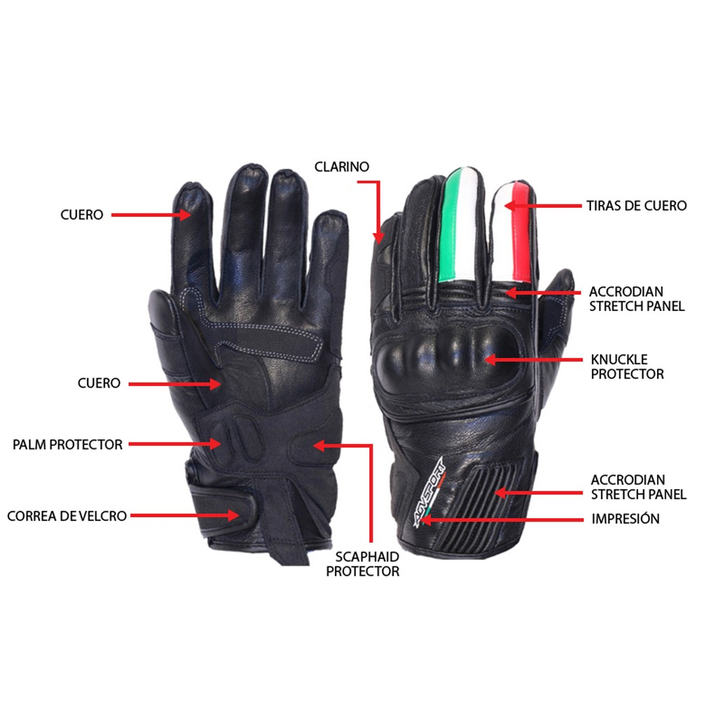 Motorcycle gloves palm protection -  Motorcycle Leather Gloves For Men Agv Sport Octa