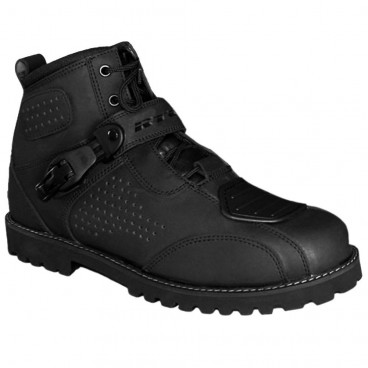 Motorcycle Leather Boots (RTECH Stone Boots) - Black