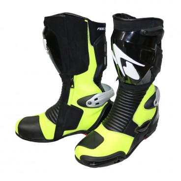 Spyke Totem 2.0 Leather Motorcycle Boots - Yellow